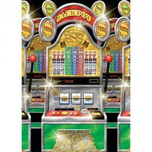 1 Rouleau De Décoration Murale Casino Party (Machines À Sous) - Taille Unique